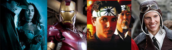 Jonah Hex, Iron Man, Karate Kid, Amelia