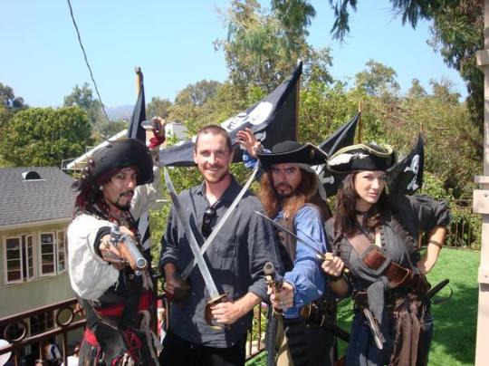 Bale at Pirates Day B'day Party