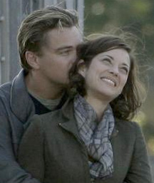 Leo & Marion on set