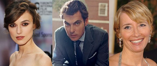 Keira Knightley, Joe Wright, Emma Thompson in My Fair Lady remake