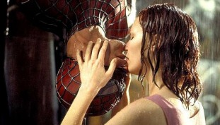 Image result for spiderman 1 upside down kiss