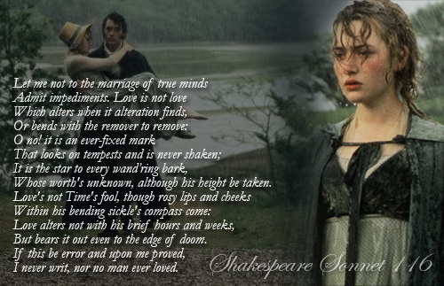 Scenes Spotlight Shakespeare S Sonnet 116 In Sense