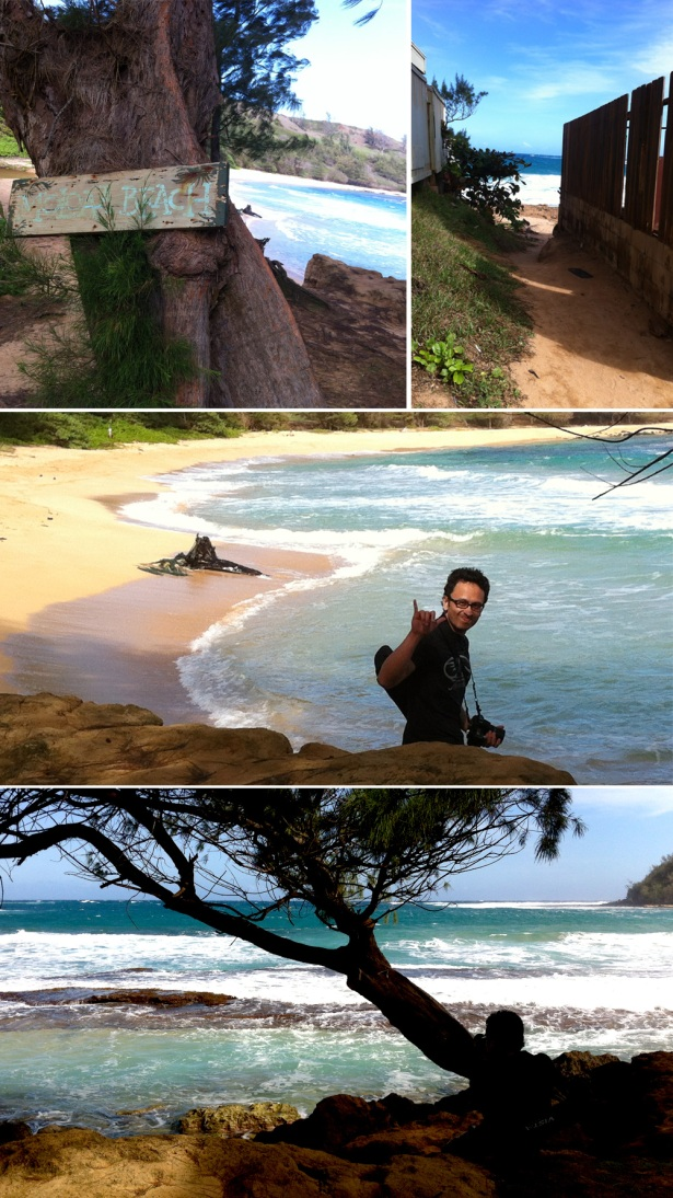 Various shots of Molokaa Beach, a secluded beach we got to during our Kauai Photo Tour