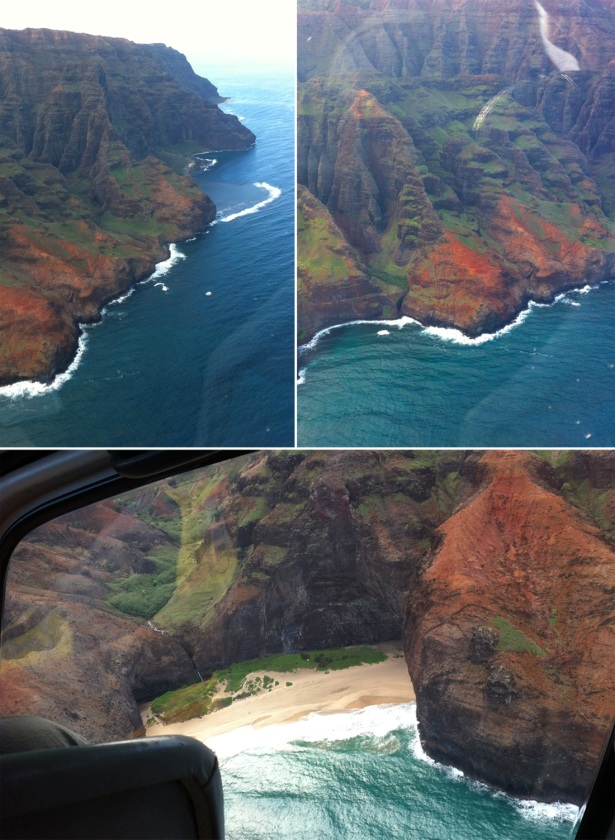 More views of Napa'li Coast from the helicopter