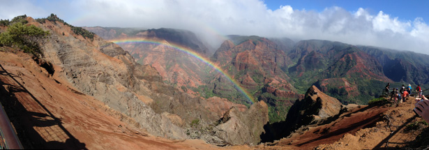 The most magnificent rainbow at Waimea Canyon!