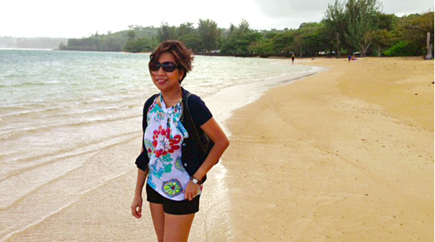 The serene Anini beach in the North Shore near our hotel. It actually rained just a few minutes after we took this picture so we had to run to our car!