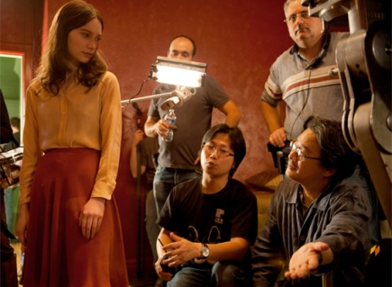 Park directing Mia Wasikowska in Stoker
