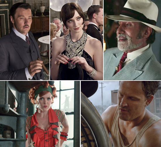 Clockwise from top left: Edgerton, Debicki, Bachchan, Fisher & Clarke