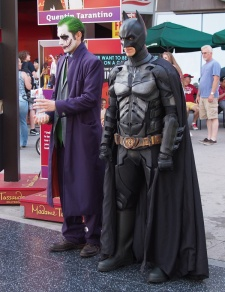 Only in Hollywood that the Joker & Batman are the best of friends