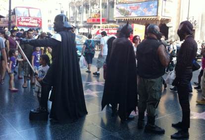 Just a day for Cosplayers in Hollywood Blvd