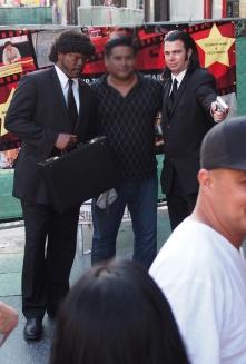 PULP FICTION's Jules Winnfield (Samuel L. Jackson) & Vincent Vega (John Travolta)