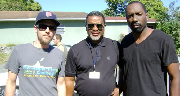 Andrew Melby, Bahamas Film Commissioner, Craig Woods and Reggie Henderson