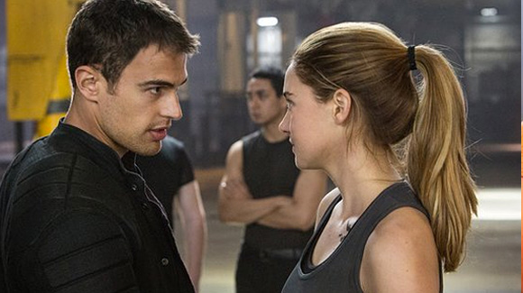 Divergent's protagonist Beatrice 'Tris' Prior with Dauntless' leader FOUR