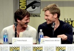 Pedro Pascal & Nikolaj Coster-Waldau having a moment at GoT panel