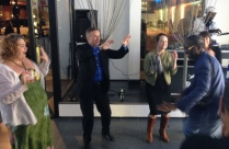 Bill Cooper getting his groove on @ TCFF Closing Party