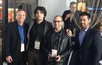 George Finn & Bradley King accepting the TCFF Indie Vision Award