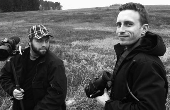 Jonathan [left] and Patrick [right] filming Ink & Steel