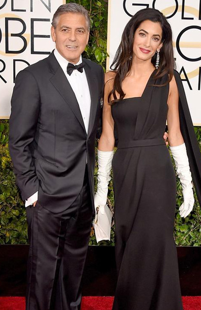 Easily the most glamorous couple of the night. Amal is just absolutely stunning. George you lucky SOB!