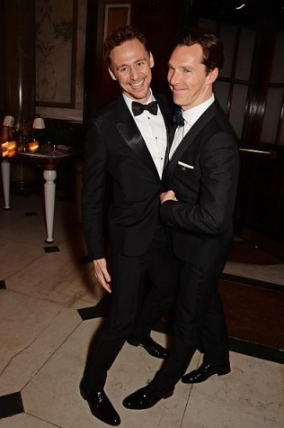 Hiddles & Cumberbatch having a blast