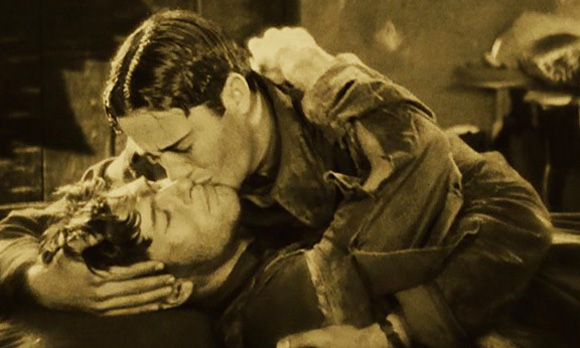 Image result for kissing scene in the 1927 movie wings