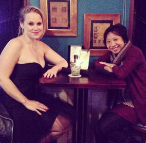 Having a drink at Cooper Irish Pub with 'The Adderall Diaries' writer/director Pamela Romanowsky