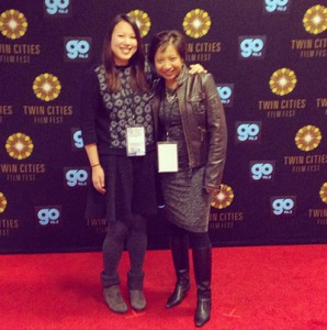 With Emily Ting, writer/director of It's Already Tomorrow in Hong Kong