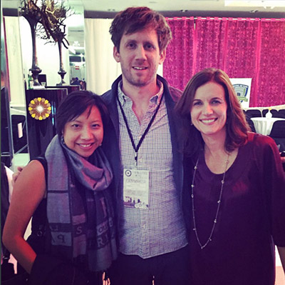 """Hanging out w/ filmmaker Charles Hood who made """"Night Owl' and my pal Kirsten Gregerson"""
