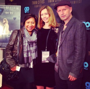 At the red carpet of The Quiet Hour with filmmaker Stephanie Joalland and producer Sean McConville