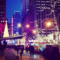 En route to Radio City Music Hall