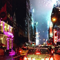 NYC in the rain – LOVE the colors