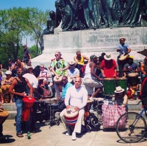 Drummer circle at Tam Tam weekly festival – Mont Royal