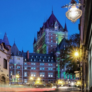 Hubby's shot of the stunning Fairmont Hotel at dusk