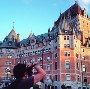 Hubby taking endless photo of the photogenic Fairmont Hotel