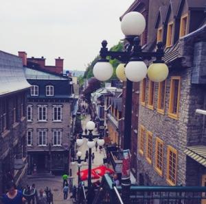 View down Le Petit Champlain