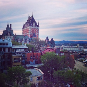 View from a hill of Quebec Oldtown