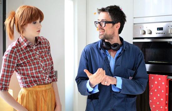 John with Karen on set