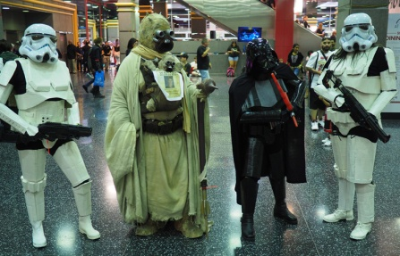 What's a comic-con without Darth Vader & Storm Troopers!