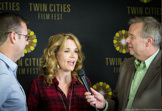 Jim & Lea with TCFF's Bill Cooper at the red carpet