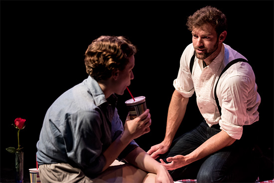 Peter in a 2015 production of H20 with Ashley Rose Montondo