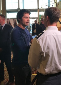 Dylan O'Brien being interviewed just before my turn was up