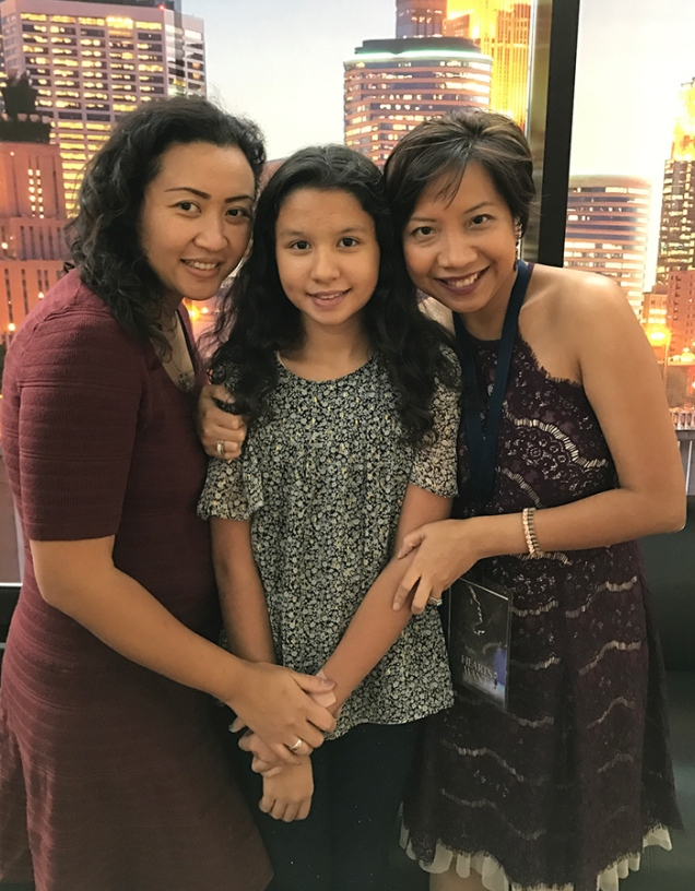 With my dearest friend Vony & her daughter Chloe who're extras in the film