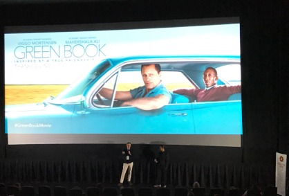 Producer Jim Burke doing Q&A after Green Book screening
