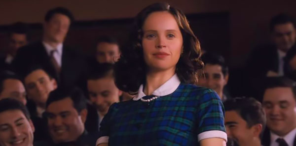 Felicity Jones as Ruth Bader Ginsburg