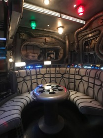 Millennium Falcon's detailed interior