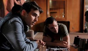Writer/director Nicholas Jarecki on the set of CRISIS