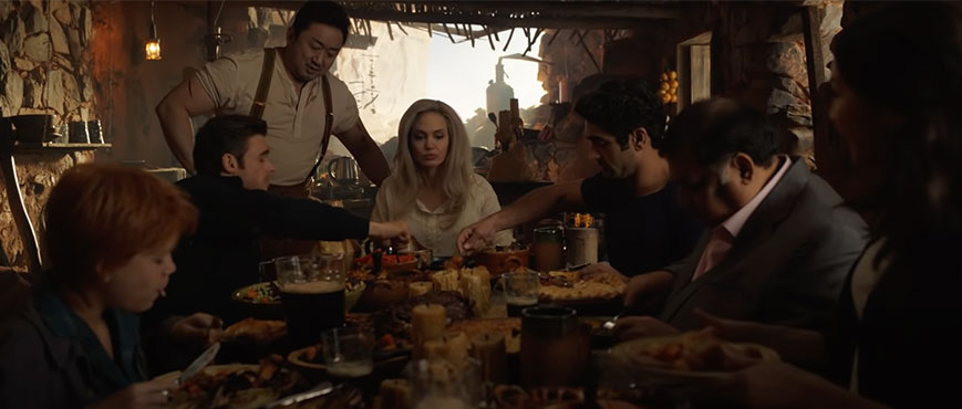 Eternals-eating-together